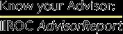 IIROC Advisor Report logo